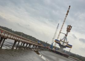 South pylon and trestle bridge – April 2016