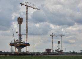 Mersey Gateway bridge pylons – June 2016