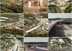 Series of the Astmoor Bridgewater Viaduct Construction