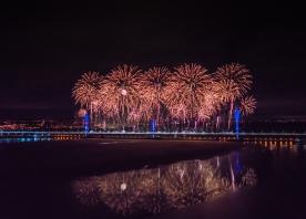 Mersey Gateway Opening Fireworks 14 October 2017