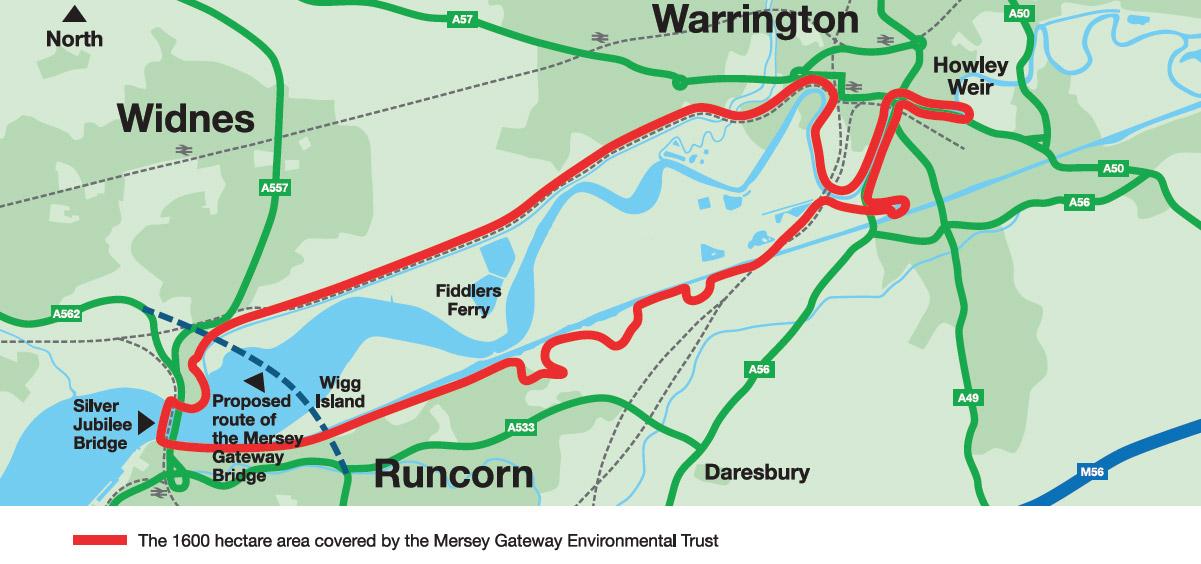 Mersey Gateway Map Mersey Gateway Environmental Trust | The Mersey Gateway Project