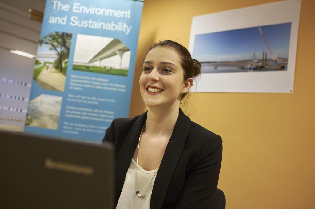Accountancy apprentice, Louise Jones, 17, from Flintshire